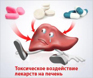 Поражающие печень препараты