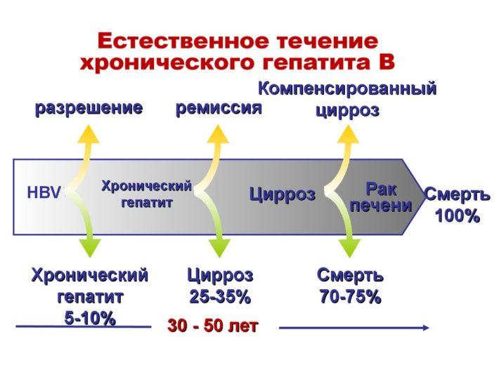 Естественное течение хронического гепатита В