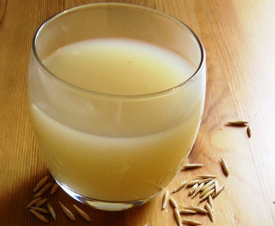 Отвар овса с медом и лимоном