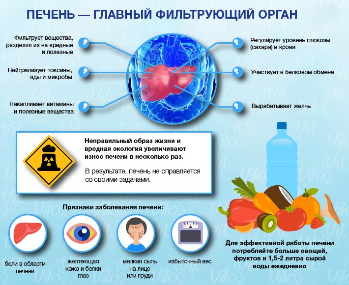 Накопление токсинов в печени