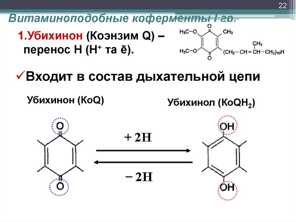 Состав Убихинона