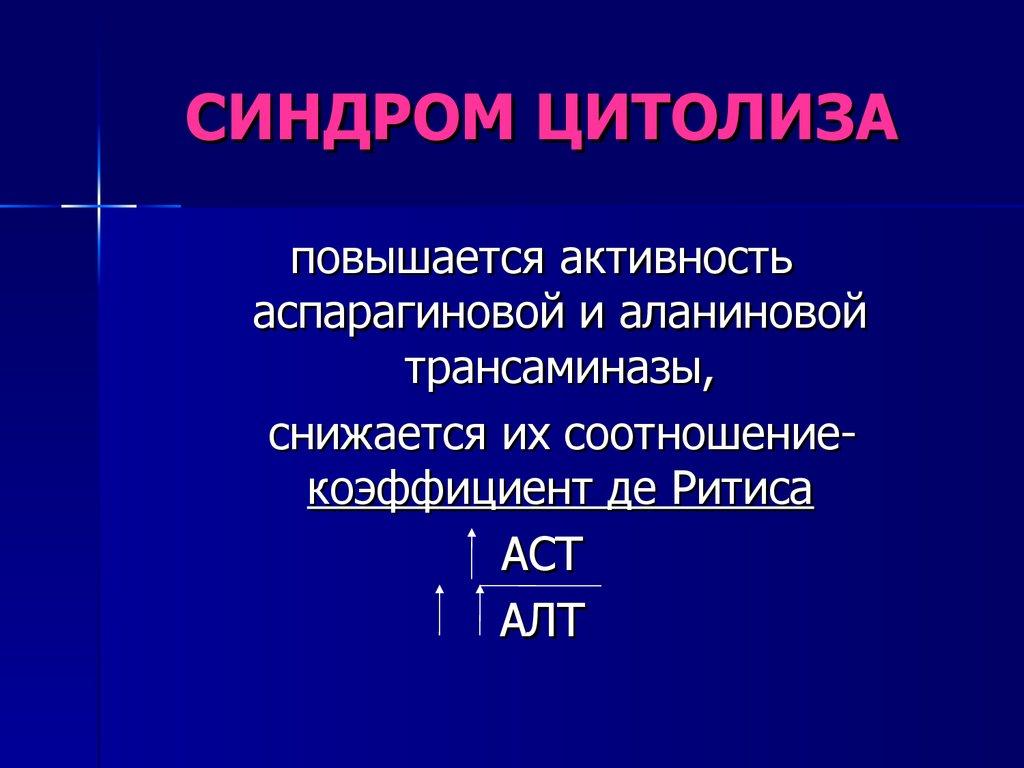 Синдром цитолиза