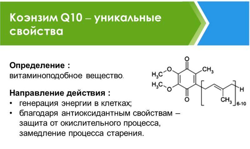 Уникальные свойства Коэнзима Q10