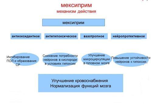 Механизм действия таблеток Мексиприм