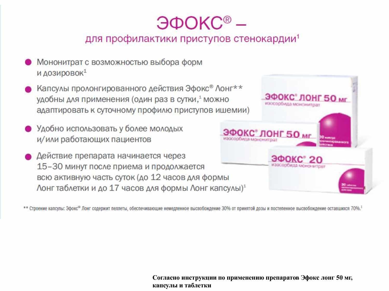 Эфокс для профилактики стенокардии