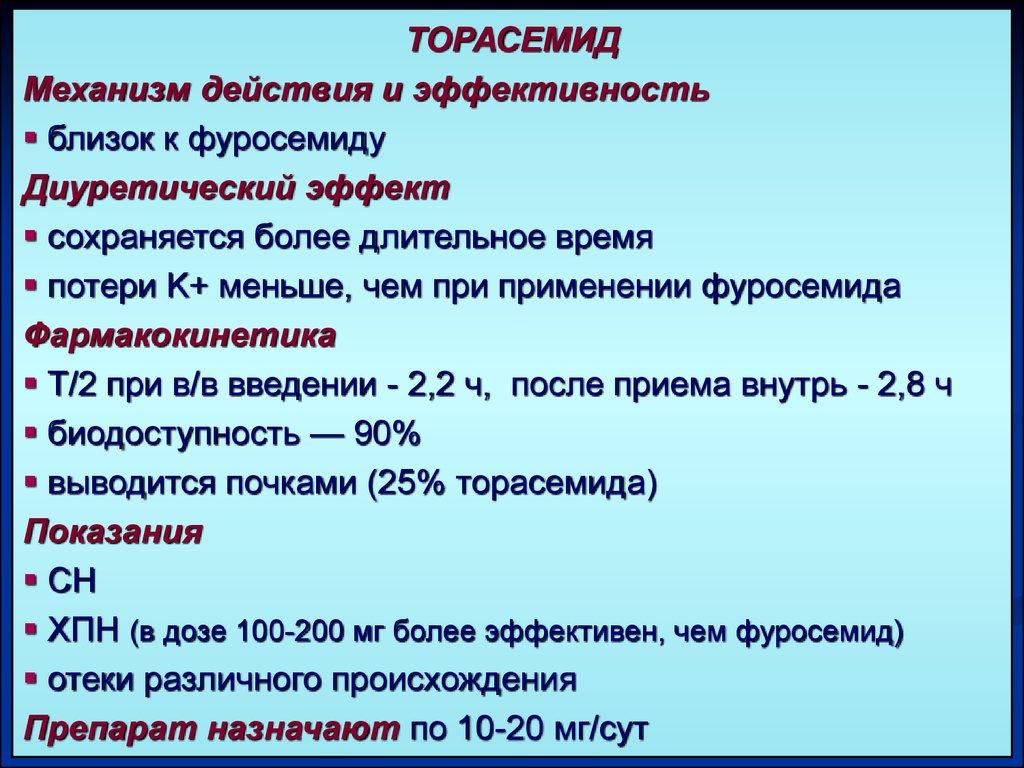 Торасемид - действующее вещество Дивера
