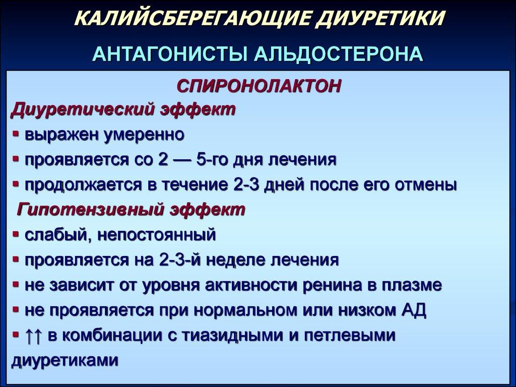 Лечебные эффекты спиронолактона