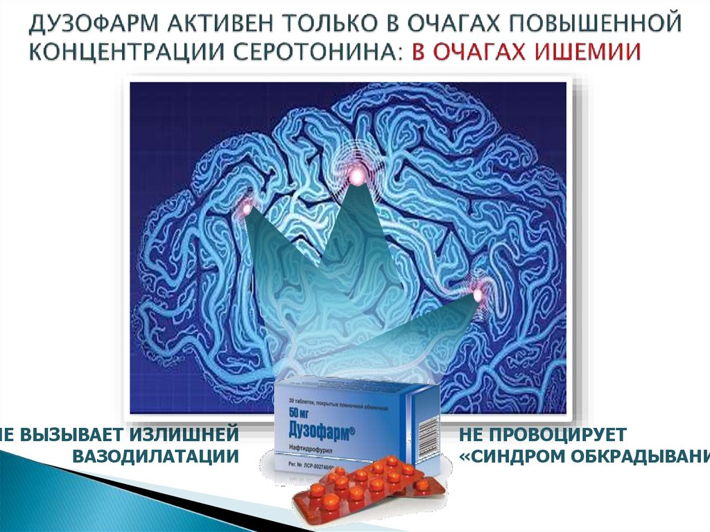 Дузофарм при ишемии