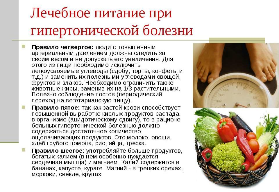 Особенности питания при ГБ