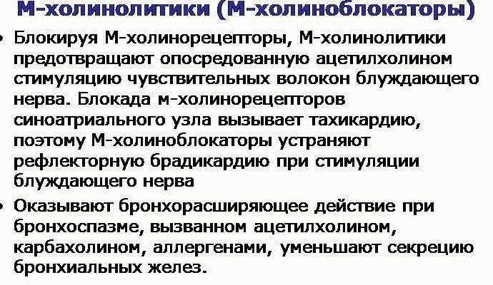 М-холинолитики