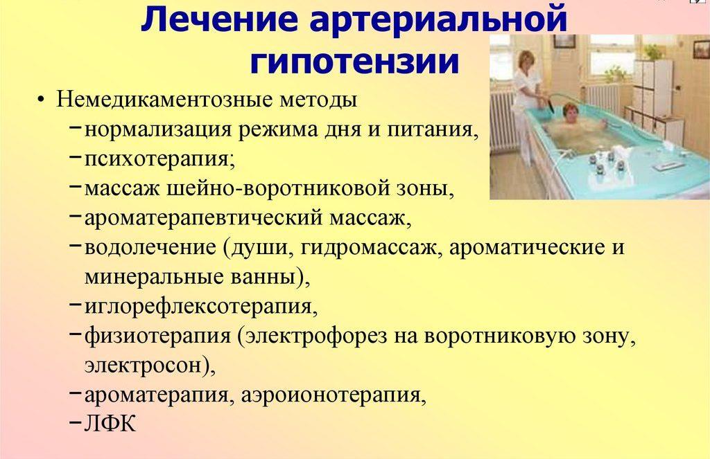 Немедикаментозные методы лечения гипотензии