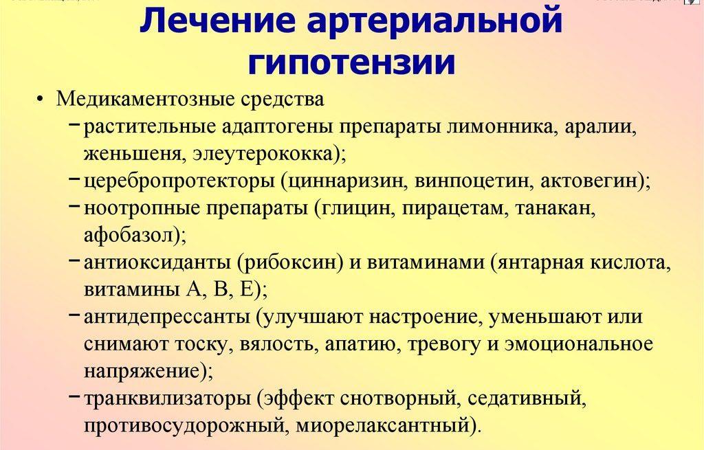 Терапия гипотонии