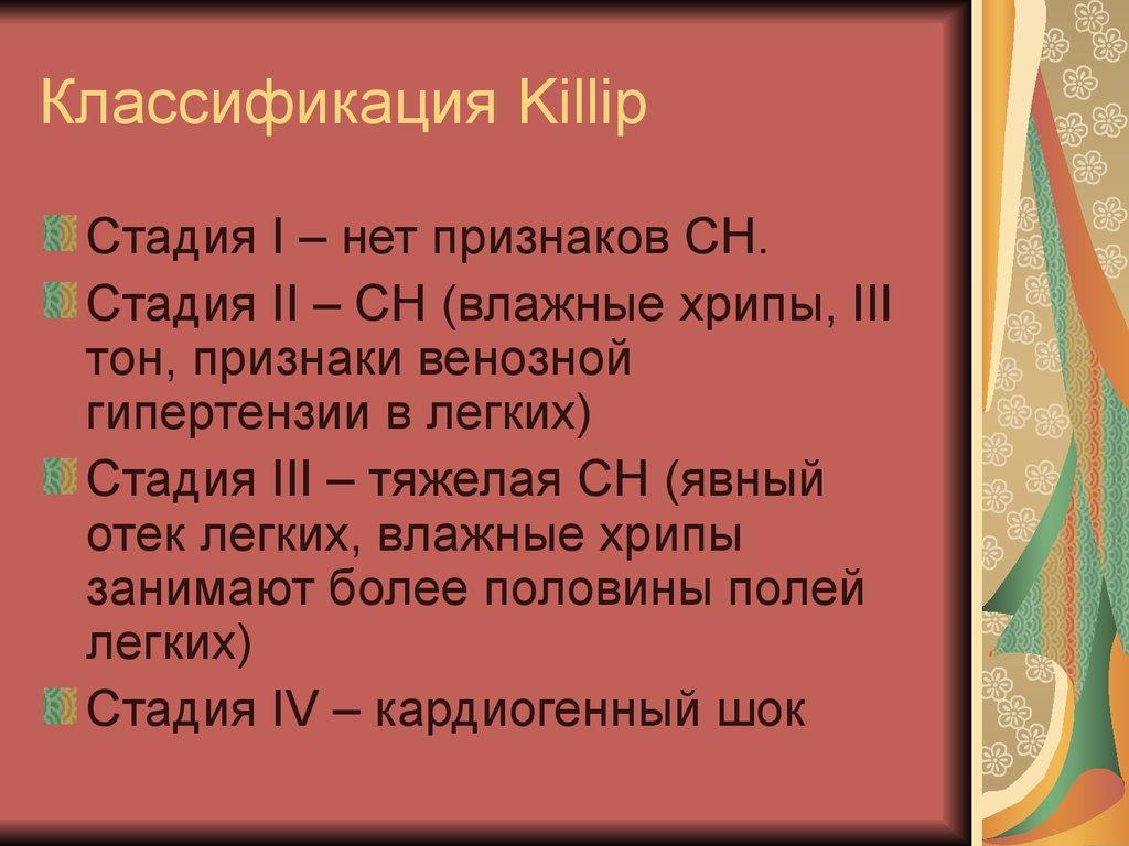 Классификация Killip