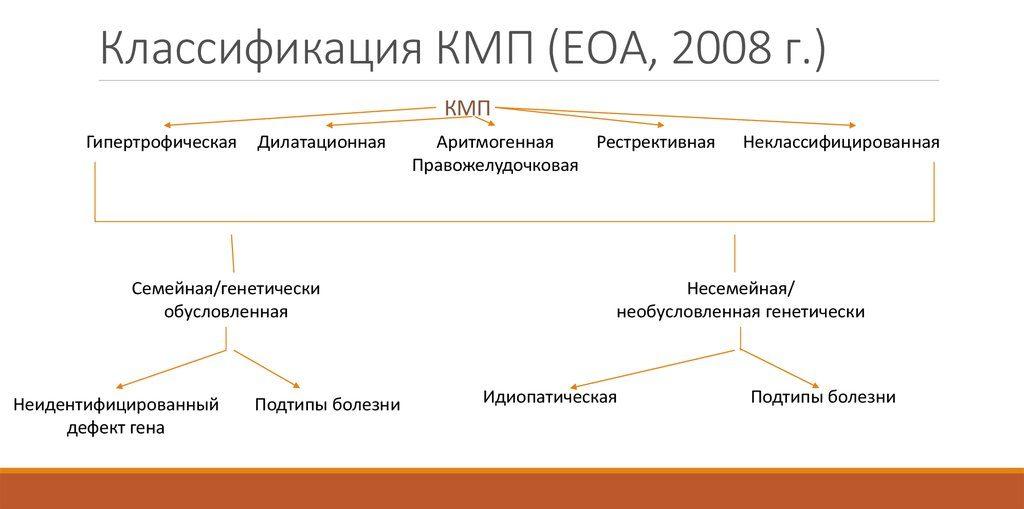 Классификация КМП