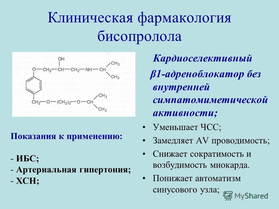 Клиническая фармакология бисопролола