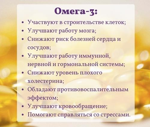Полезные свойства Омега-3