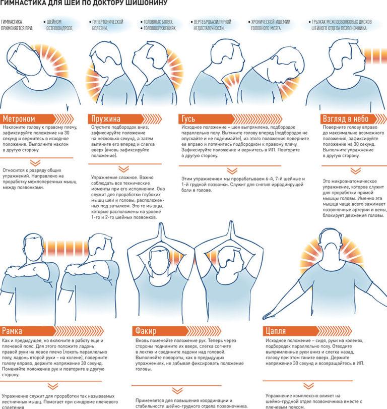 Комплекс базовых упражнений при гипертонии шишонина - От болей