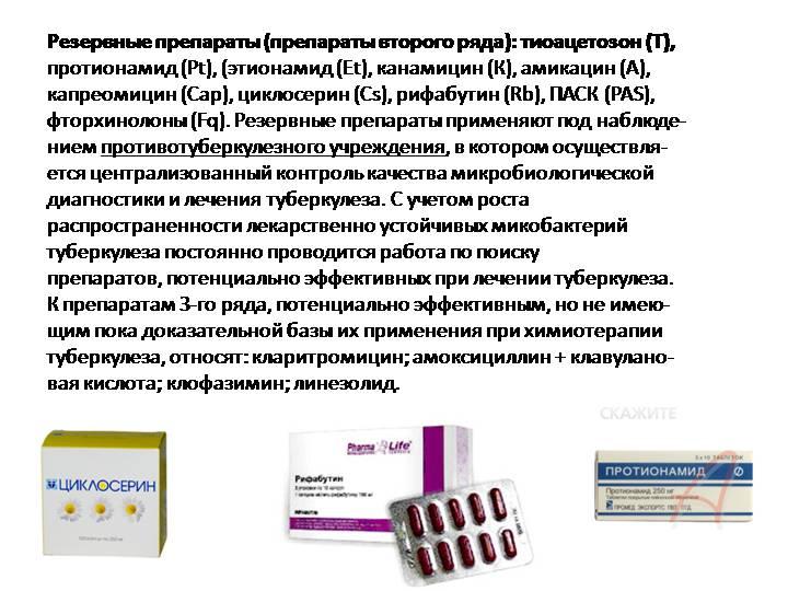 Препараты второго ряда