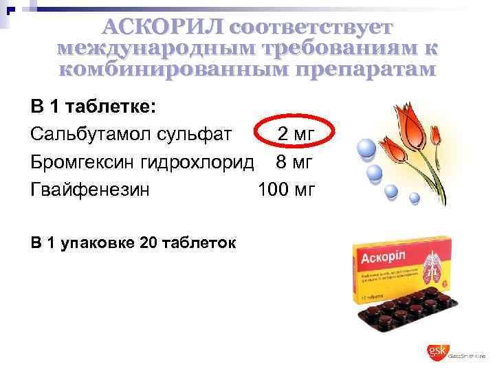 Состав Аскорила