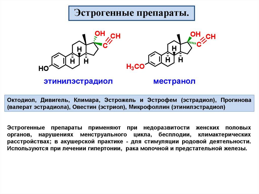 Эстрогенный препарат