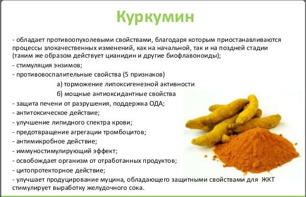 Полезные свойства куркумина