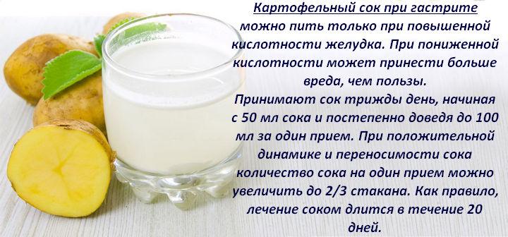 Картофельная диета сок