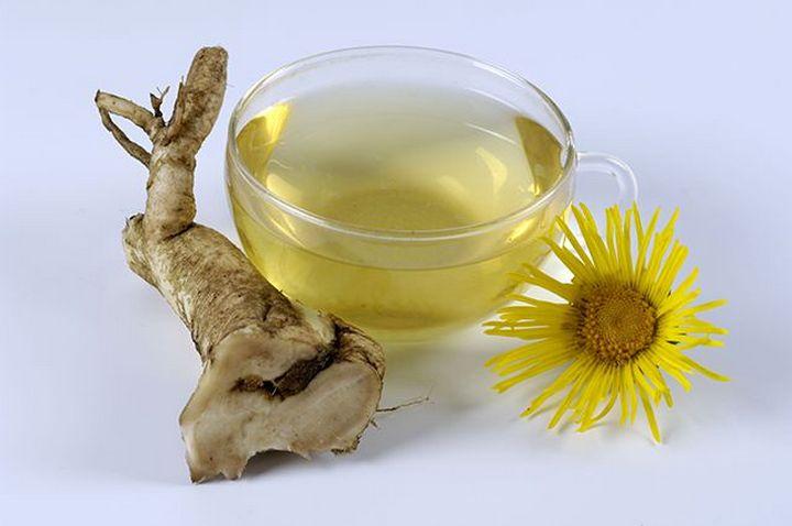 Чай с корнет и цветком