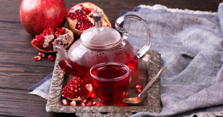 Чай с соком граната