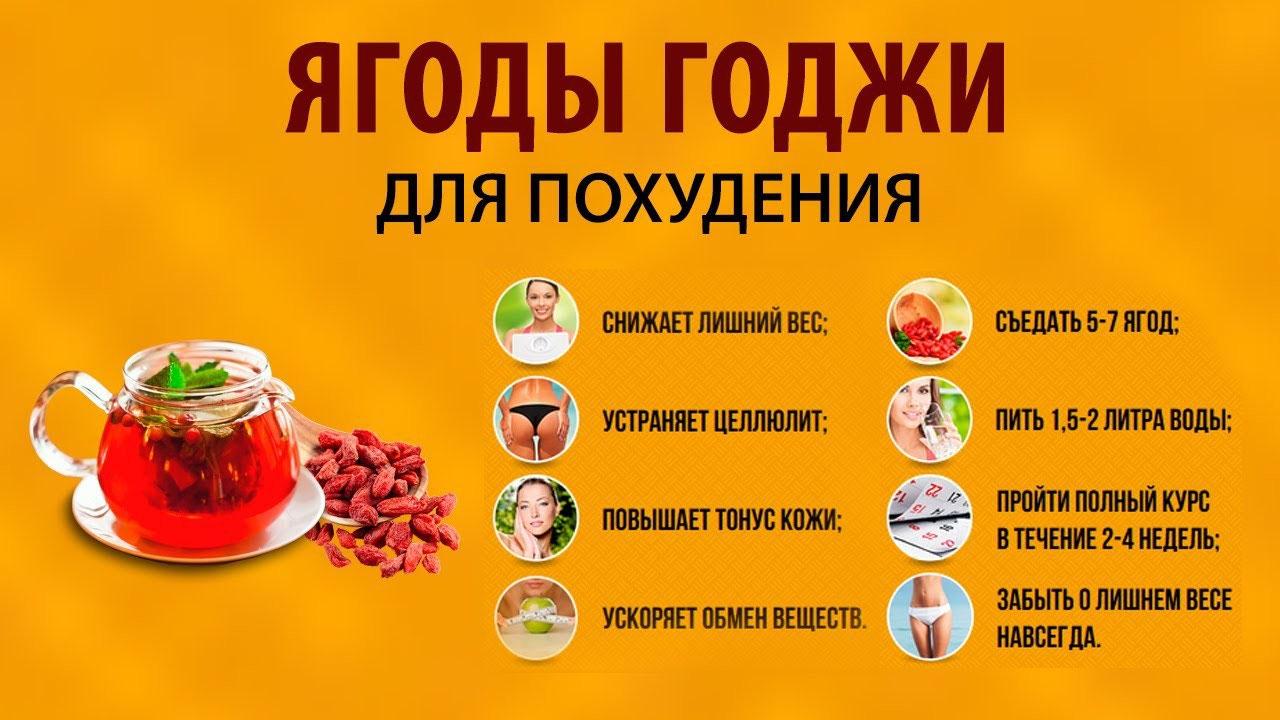 Как можно похудеть принимая ягоды годжи