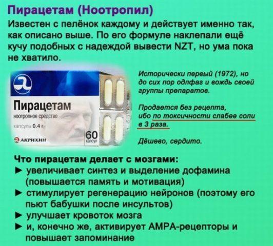 Пирацетам таблетки
