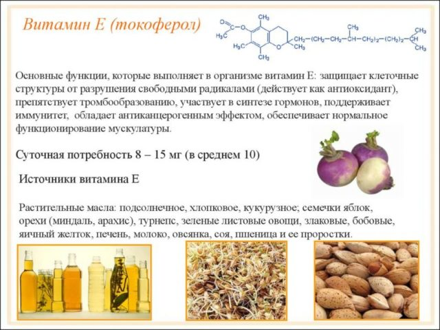 Польза витаминаЕ