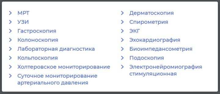Список исследований